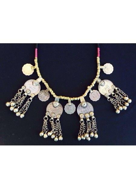 COLLAR TRIBAL MONEDAS